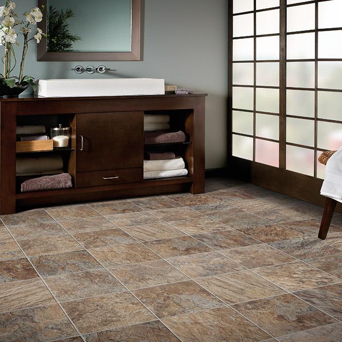 Cushion vinyl flooring mannington slate kasbah surrey for Cushioned linoleum flooring