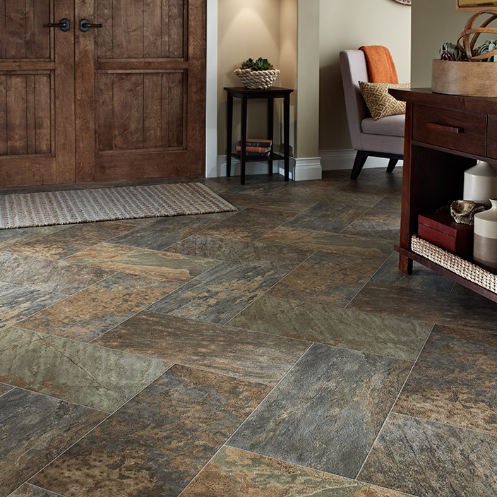 Cushion Vinyl Flooring Mannington Slate Majesty Surrey